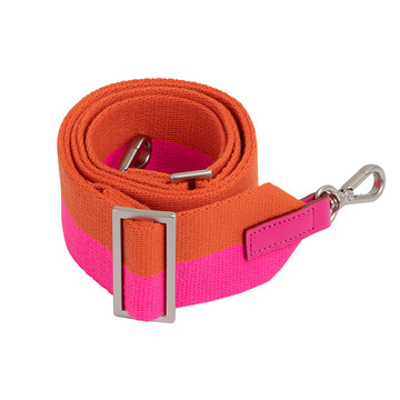 COLOR-MIX STRIPE STRAP_PINK+ORANGE