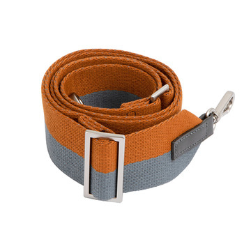 COLOR-MIX STRIPE STRAP_GREY+BROWN