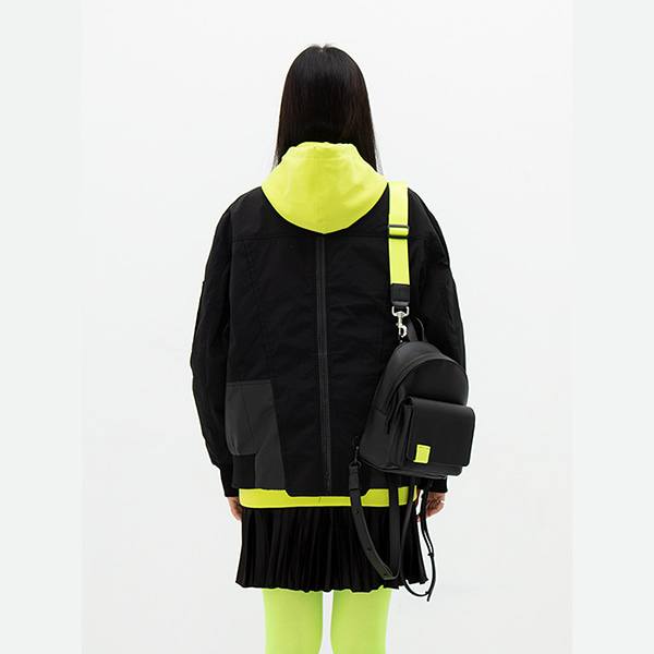 BULLET BAG ET-09_ BLACK+LIME